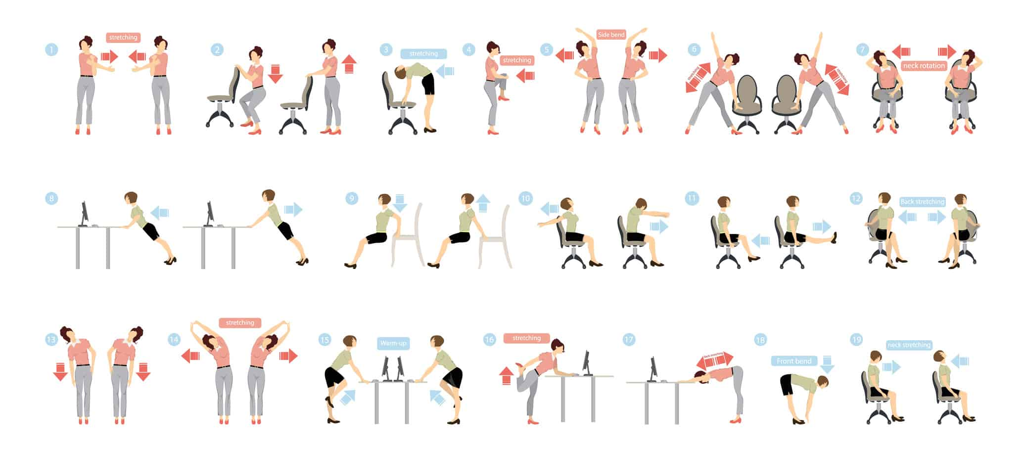 Stretches to do at work